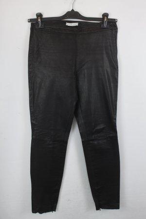 Selected Femme Pantalon en cuir noir cuir