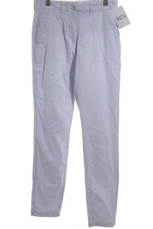 Selected Femme Pantalone a vita bassa bianco-blu pallido motivo a righe