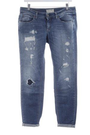 Selected Femme Jeans vita bassa blu acciaio stile atletico