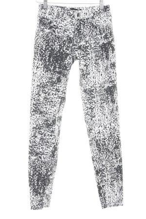Selected Femme Jegging noir-blanc cassé motif abstrait style décontracté