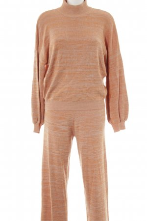Selected Femme Jersey Twin Set wollweiß-hellorange meliert sportlicher Stil