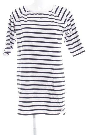 Selected Femme Jerseyjurk wit-donkerblauw gestreept patroon casual uitstraling