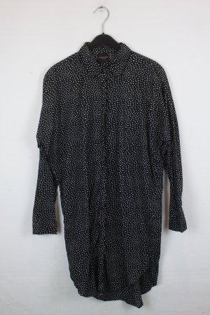 Selected Femme Kleid Hemdblusenkleid Gr. XS oversized schwarz weiß gemustert (18/2/588)