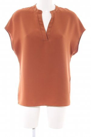Selected Femme Kurzarm-Bluse hellorange Business-Look