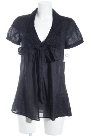 Selected Femme Kurzarm-Bluse schwarz schlichter Stil