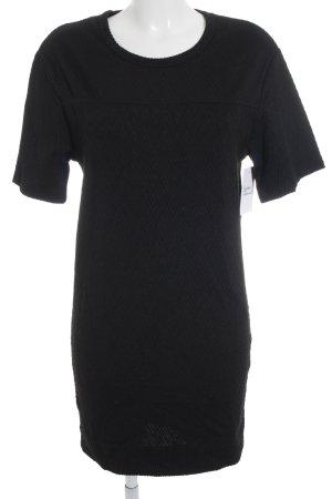 Selected Femme Kurzarmkleid schwarz Zackenmuster klassischer Stil