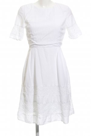 Selected Femme Kurzarmkleid weiß Romantik-Look