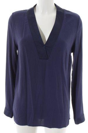 Selected Femme Langarm-Bluse blau Business-Look