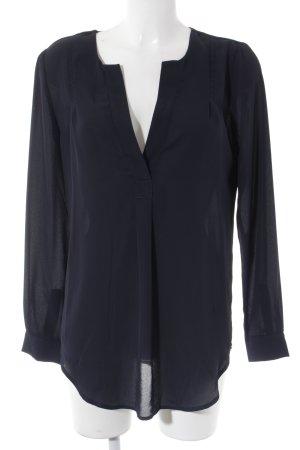 Selected Femme Langarm-Bluse dunkelblau klassischer Stil