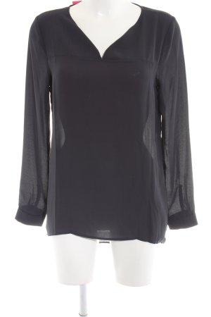 Selected Femme Langarm-Bluse schwarz Business-Look