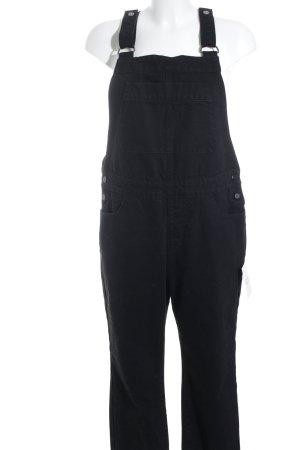 Selected Femme Latzhose schwarz-silberfarben 90ies-Stil