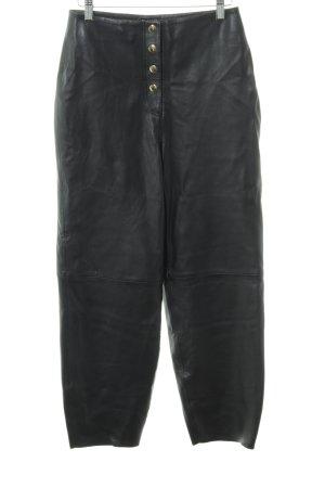 Selected Femme Lederhose schwarz schlichter Stil