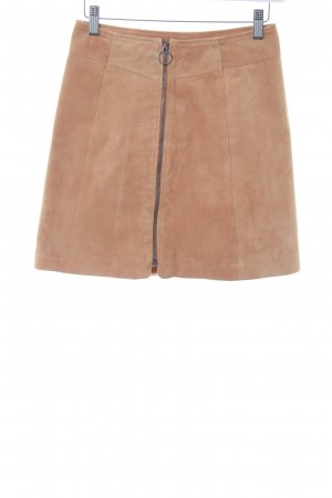 Selected Femme Leather Skirt beige simple style