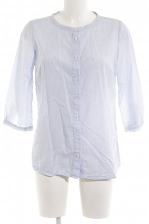 Selected Femme Blusa de lino azul estampado a rayas estilo «business»