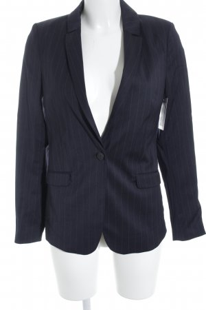 Selected Femme Long-Blazer dunkelblau Nadelstreifen Business-Look