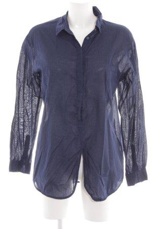 Selected Femme Long-Bluse blau Business-Look