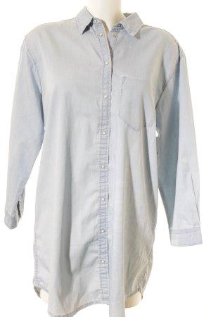 Selected Femme Long-Bluse himmelblau Jeans-Optik