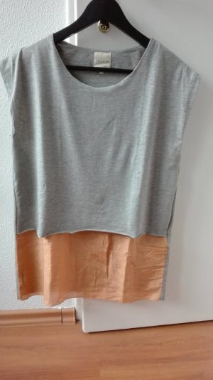 Selected Femme Longshirt XS 34 oversize grau Blogger T-Shirt Tunika