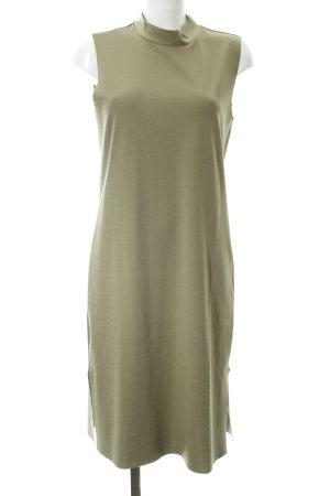 Selected Femme Midi-jurk groen-grijs casual uitstraling