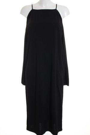 Selected Femme Midikleid schwarz Elegant