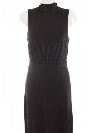 Selected Femme Midi Dress black-silver-colored elegant