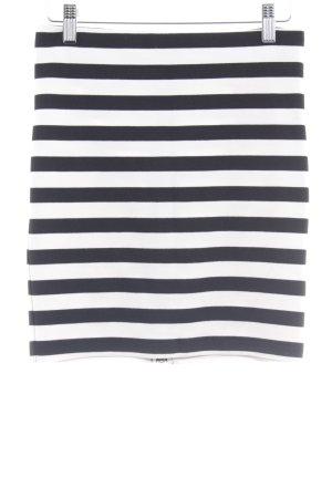 Selected Femme Minirock schwarz-weiß Streifenmuster Paris-Look