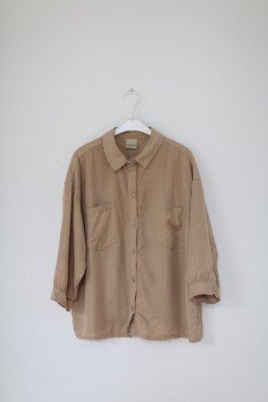 Selected Femme Nude Blush Bluse Vintage Look Hemd Boxy Gr. 38