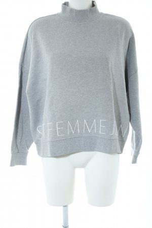 Selected Femme Oversized Sweater light grey flecked casual look