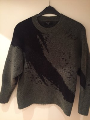 Selected Femme Jersey de lana negro-verde oscuro