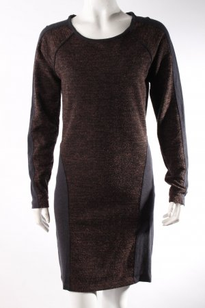 Selected Femme Pulloverkleid braun-rot schwarz