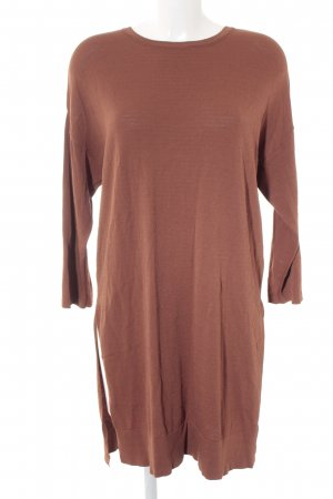 Selected Femme Sweater Dress cognac-coloured casual look