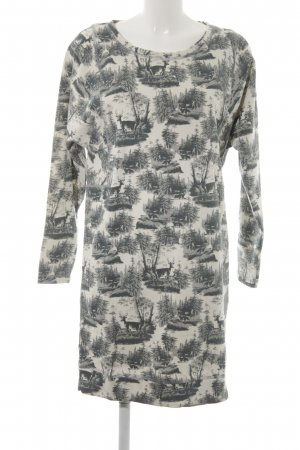 Selected Femme Sweater Dress themed print casual look