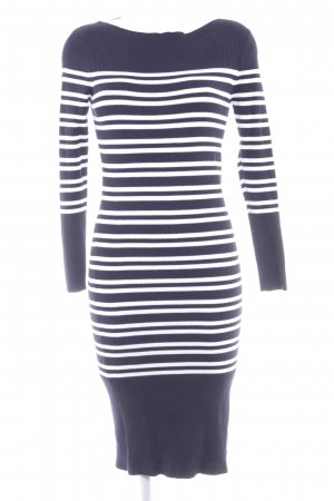 Selected Femme Sweaterjurk wolwit-donkerblauw gestreept patroon