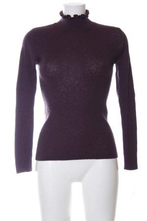 Selected Femme Rollkragenpullover lila Business-Look