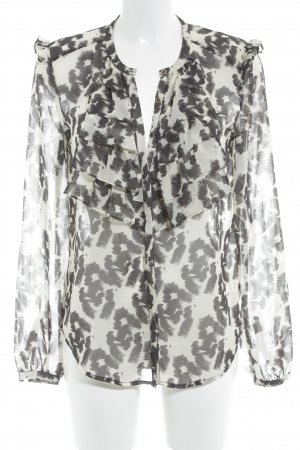 Selected Femme Ruffled Blouse oatmeal-black animal pattern animal print