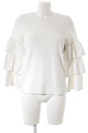 Selected Femme Rundhalspullover wollweiß extravaganter Stil