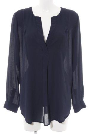 Selected Femme Schlupf-Bluse blau Business-Look