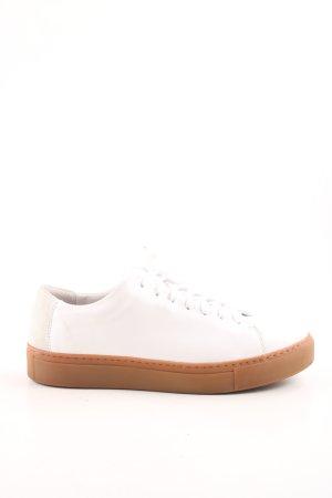 Selected Femme Zapatos brogue blanco-marrón look casual