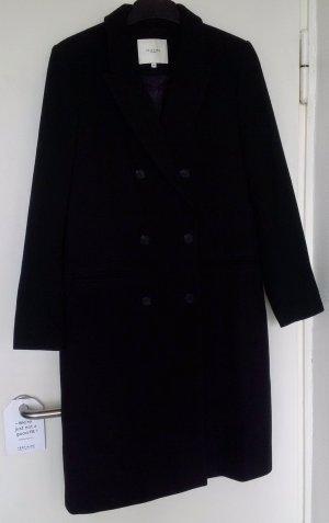 Selected Femme Manteau en laine noir tissu mixte