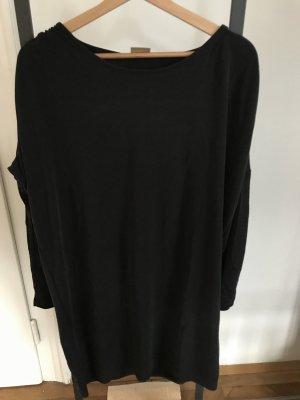 Selected Femme Vestido estilo camisa negro tejido mezclado