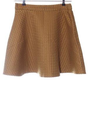 Selected Femme Skater Skirt brown weave pattern casual look
