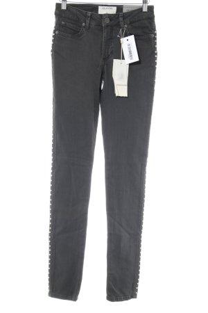 Selected Femme Skinny Jeans dunkelgrau Biker-Look
