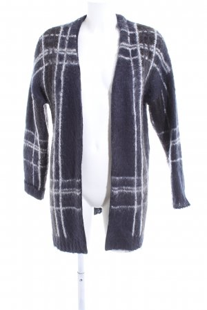 Selected Femme Knitted Coat white-blue striped pattern casual look