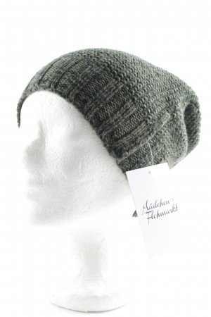 Selected Femme Knitted Hat dark green-sage green fluffy
