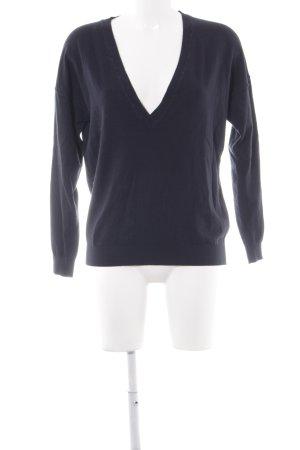 Selected Femme Strickpullover dunkelblau Brit-Look