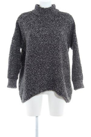 Selected Femme Strickpullover schwarz-weiß meliert Casual-Look