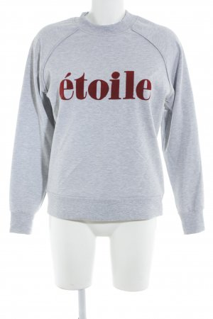 Selected Femme Suéter gris-rojo look casual