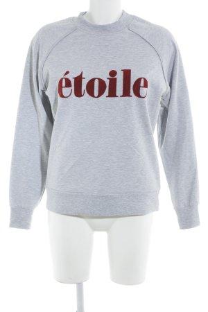Selected Femme Sweatshirt grau-rot Casual-Look