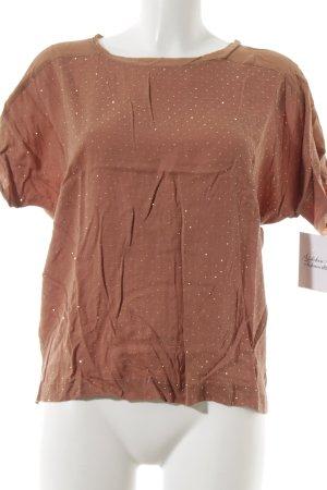 Selected Femme T-Shirt apricot-goldfarben Glitzer-Optik