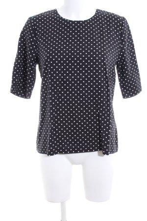 Selected Femme T-Shirt schwarz-weiß Punktemuster Business-Look